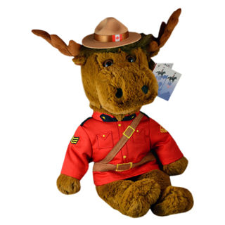 Rcmp Stuffed Animal Moose 8 Inch Canada Souvenirs Gifts