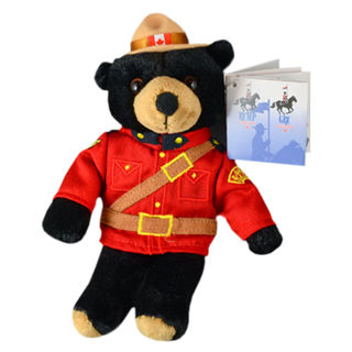 Picture of RCMP Stuffed Animal Black Bear 8 inch