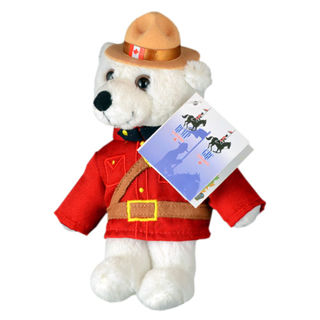 Canadian Souvenirs Gifts Rcmp Stuffed Animal White Bear 8
