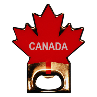 Picture of Magnet Canada Maple Leaf Pattern Bottle Opener