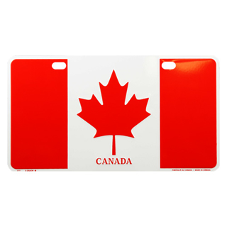 Picture of License Plate Canada Flag - Large