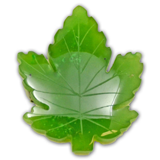 Picture of Canadian Jade - Maple Leaf Brooch 3.5cm x 3.1cm
