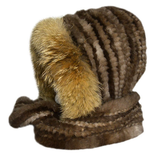 Beaver Fur Hat With Scarf Canada Souvenirs Gifts