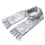 Picture of Women's Scarf with Maple Leaf Pattern - Silver