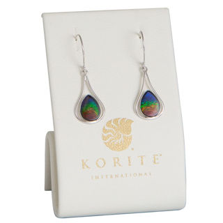 Picture of Ammolite Earrings 14K White Gold