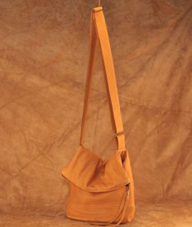 Hides In Hand Deerskin Fold Over Purse Saddle Tan