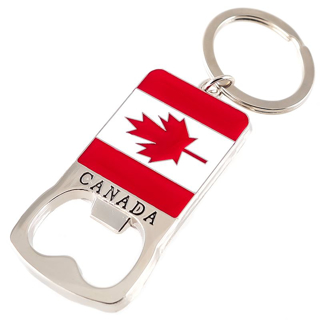 Picture of Canadian Keychain - Canada Flag Bottle Opener