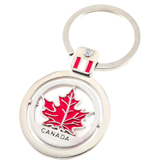 Picture of Canadian Keychain - Revolving Maple Leaf