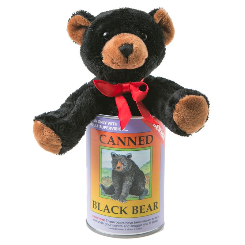 Black Bear Canned Critter Canada Souvenirs Gifts