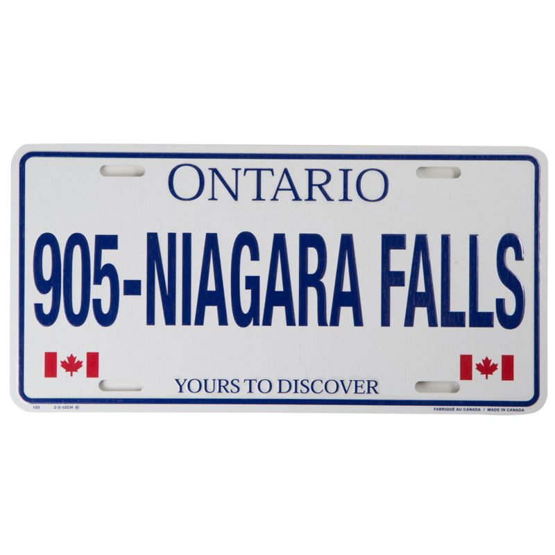 Canada Souvenirs Gifts Niagara Falls License Plate