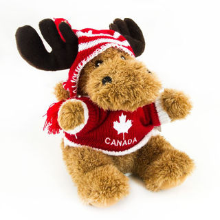 Picture of Canada Helga The Hat Moose 9'' - Red