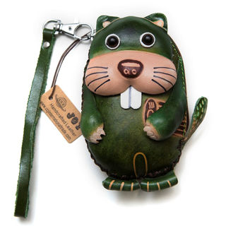 Happy Beaver Leather Coin Purse Canada Souvenirs Gifts