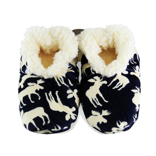 Picture of Classic Moose Blue Fuzzy Feet Slipper