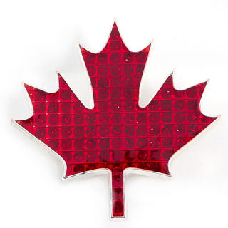 Canadian Souvenirs Gifts Glitter Red Maple Leaf Magnet
