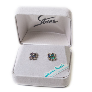Picture of [Glacier Pearle / Abalone] - Maple Leaf - Earrings