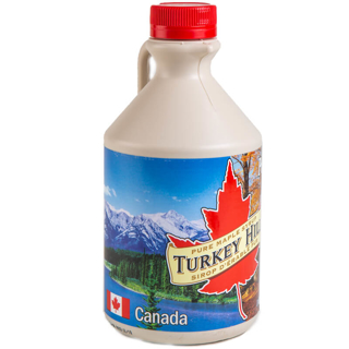 Picture of Turkey Hill Pure Maple Syrup Canada Grade A Amber Jug 1L