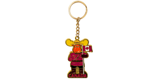 Picture of Metal Golden Keychain  - Moose RCMP