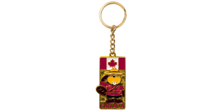 Picture of Metal Golden Keychain  - Beaver RCMP Officer