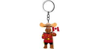 Picture of Wooden Keychain  - Moose RCMP Officer