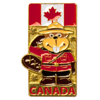 Picture of Magnet RCMP Beaver Officer Metal