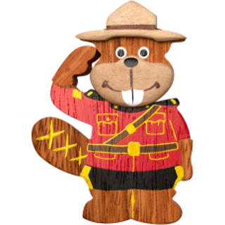 Picture of Magnet RCMP Beaver Officer Wood