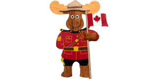 Picture of Magnet RCMP Moose Officer Wood