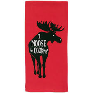 Picture of i moose be cooking tea towel