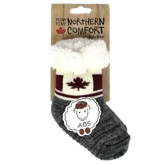 Picture of 婴儿均码加拿大国旗毛绒袜