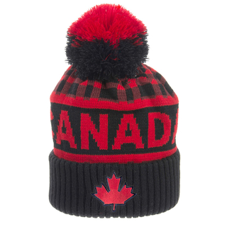 Picture of Canada Buffalo Check Toque with Pom Pom