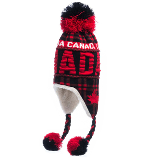 Picture of Canada Buffalo Check Pilot Hat with Pom Pom