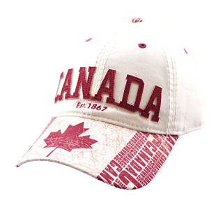 Picture of Canada Beige and Red baseball cap