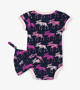 Picture of Cottage Moose Baby Bodysuit with Hat