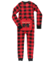 Picture of Bear Cheeks Kid & Youth Plaid Onesie Flapjack