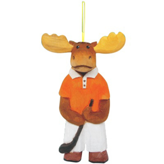 Picture of Wooden Ornament-Golf Moose