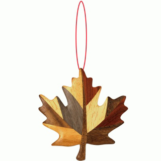 Picture of Wooden - Ornament- Maple Leaf