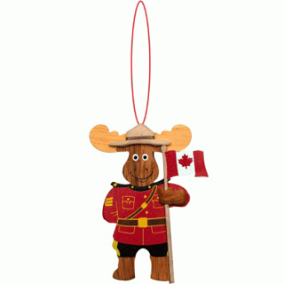 Picture of Wooden - Ornament - RCMP Moose