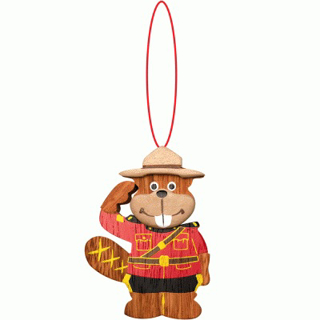 Picture of Wooden - Ornament - RCMP Beaver