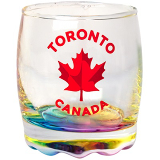 Picture of Shot Glass - Rainbow Maple Leaf Toronto