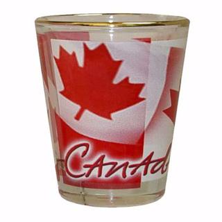Picture of Shot Glass - Canada Flutter Canadian Flag - short