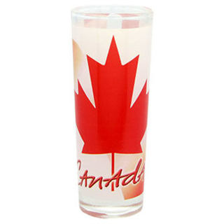 Picture of Shot Glass - Canada Flutter Canadian Flag - tall