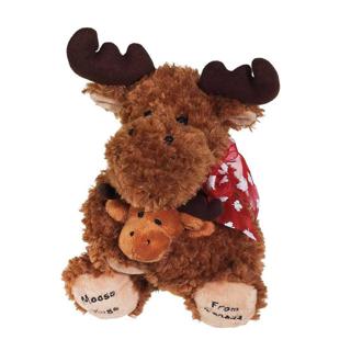 Picture of 加拿大駝鹿毛絨玩具 - 15厘米
