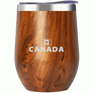 Picture of Stainless Steel Insulated Wine Tumbler - Teakwood Canada 12oz